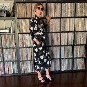 Vintage Dresses - Vintage 40s 80s Dress with Pockets XS